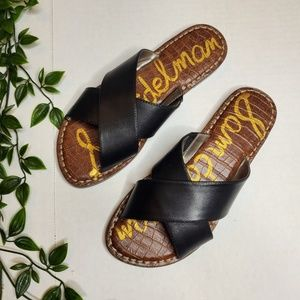 NWOT Sam Edelman Size 7.5 Leather Slides